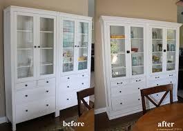 ikea hemnes glass door cabinet cabinet built in made with two ikea hemnes glass door cabinets with