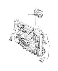 chrysler pt cruiser radiator fan 68071638aa genuine mopar relay radiator fan