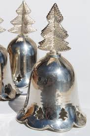 vintage bells made in india silver plated brass bell