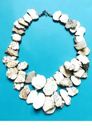 natural stone statement necklace images Natural stone statement necklace teal house collection jpg