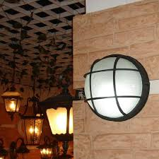 outdoor flush mount wall light american country style retro waterproof porch light outdoor flush