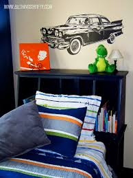 extraordinary car boys bedroom themed with black wooden single bed