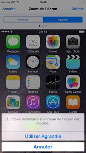 agrandir icones bureau astuce agrandir la taille des icônes et du texte sur iphone 6 et