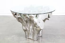 silver tree stump side table home design and pictures