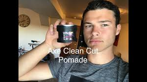 Pomade Axe does it work in curly hair axe clean cut pomade review s