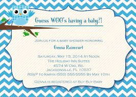 baby shower invitation pictures for a boy owl baby boy shower