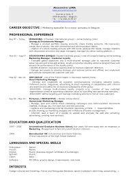 marketing resume objectives exles marketing resume objectives exles oloschurchtp