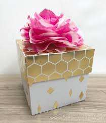 present tissue paper 5 monsters paper gift box with tissue paper flower