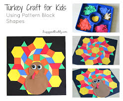 pattern block turkey craft for buggy and buddy