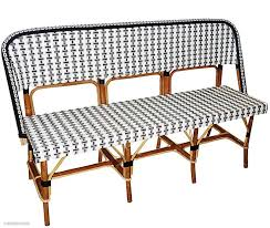 bistro rattan bench telegraph contract furniture