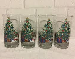 christmas glasses christmas glasses etsy