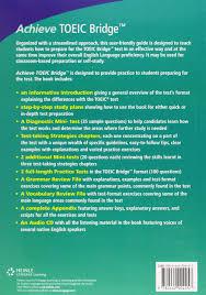 achieve toeic bridge test preparation guide achieve toeic and