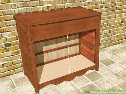 How To Build A End Table With Drawer by 3 Ways To Make A Fake Fireplace Wikihow