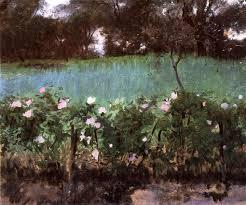 Rose Trellises Landscape With Rose Trellis 1886 John Singer Sargent Wikiart Org