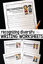 recognizing diversity writing prompts and worksheets writing