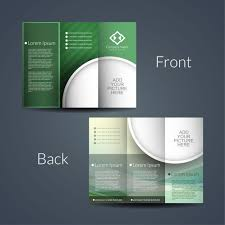 6 sided brochure template sided brochure vector free