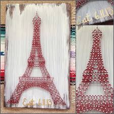 Eiffel Tower Decorations Eiffel Tower String Art Paris Decor French By Naileditcustomcrafts