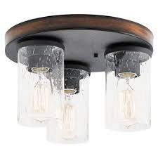 Nickel Ceiling Light Home Decor Fabulous Flush Mount Kitchen Lighting High Definition