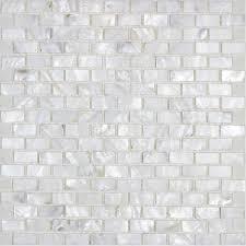 Mother Of Pearl Tile Backsplash White Freshwater Shell Mosaic - Seashell backsplash