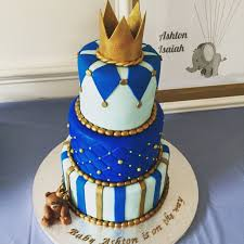 it u0027s a boy baby shower cake baby blue royal blue and gold
