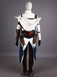 Connor Halloween Costume Assassin U0027s Creed Iii Connor White Assassin Uniform Cosplay Costume