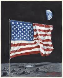 Picture Of Flag On Moon Space Artists A Flag On The Moon