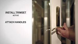 Patio Door Handle Replacement Lock Mechanism Replacement On Andersen Frenchwood Hinged Inswing