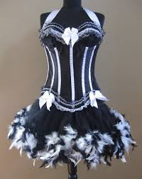 black pink corset with tutu burlesque costumes costume ideas