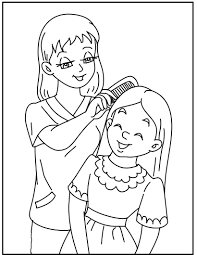 makeup daughter at mother u0027s day coloring pages for kids dur