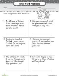 best solutions of time word problems worksheets on worksheet