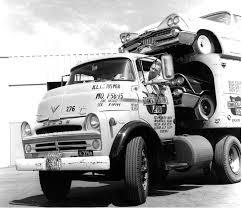 Dodge Ram 700 - 1957 dodge 700 coe with a load of 1959 dodges car haulers