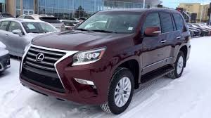 lexus 3 row suv 2015 2014 lexus gx 460 4wd in red claret mica premium package review