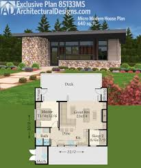 plan 85133ms exclusive tiny modern house plan with outdoor spaces