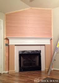 Laminate Flooring For Walls Fireplace Makeover Planked Wall Tutorial Little Red Brick House