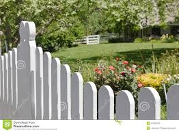 fence in the front yard stock images image 27063524