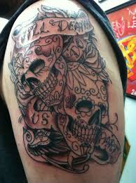 collection of 25 matching sugar skull design