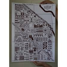 Bucktown Chicago Map by Joe Mills Chicago Illustrations U2014 Bucktown And Wicker Park Map