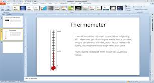 To Make A Fundraising Thermometer For Powerpoint Thermometer For Fundraising Template