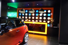 Illuminated Reception Desk Lightboxes U0026 Signs At Mini Car Showrooms