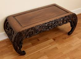 large heavy quality chinese dragon carved kang coffee table c