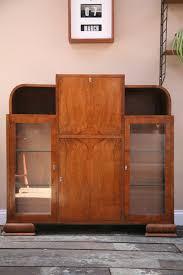 bureau chrome 1930s display cabinet and bureau and chrome