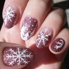 13 snowflake nail art designs for winter nail designs