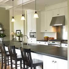 honed slate tile kitchen traditional with galley kitchen island