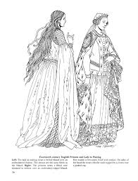 medieval fashions coloring book 52i english medieval fashion