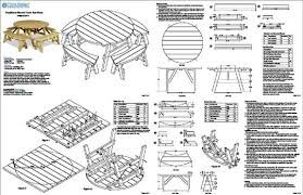 picnic table plans with 8 solo seats round picnic table plans