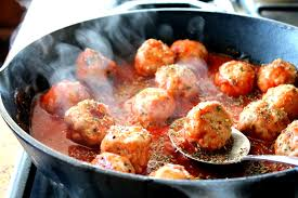 turkey meatballs in creamy mushroom turkey meatballs in spicy tomato basil sauce with burrata