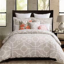 max studio home decorative pillow amazon com max studio 3pc queen duvet cover set large scroll