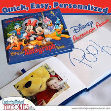 personalized autograph books easy and personalized disney autograph albums capturing