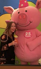 celebrating 25 years of percy pig running in lavender