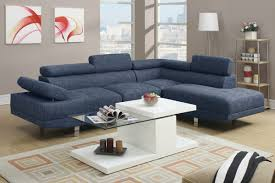 blue sectional sofa with chaise 2 piece blue sectional set by poundex f7548 huntington beach